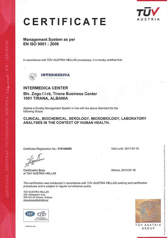 TUV Certificate  ISO 9001:2008