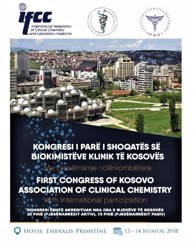 Kongresi i Parë i Shoqatës së Biokimistëve Klinik të Kosovës